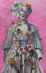 リンゴのある静物画  2021年 キャンバスに油彩 33.3×45.5㎝