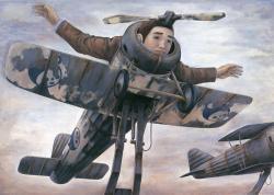 《飛べなくなった人》(1996年)(静岡県立美術館蔵)