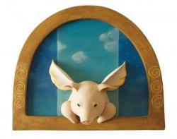 「ぶたの天使」 (夜空と晴天) 29×35×4cm