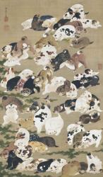 《百犬図》絹本着色 一幅 142.7×84.2cm 個人