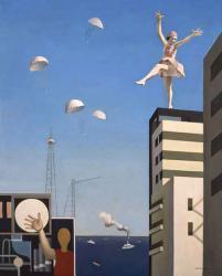 古賀春江《窓外の化粧》1930年 油彩、カンヴァス 神奈川県立近代美術館蔵
