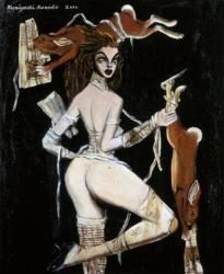 金子國義展 遊戯の果てに 金子 國義「七つの大罪Ⅱ」 油彩・キャンバス