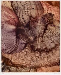 加納光於「≪稲妻捕り≫Elements No.24」1977 エンコステック、紙26.6x21.5cm