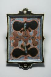 河井寬次郎 《筒描花文額皿》 1950年 アサヒビール大山崎山荘美術館蔵