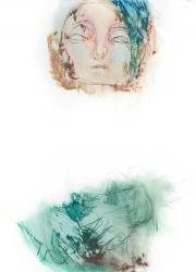 『self』 紙、オイルスティック 2013 273×202