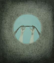 木村太陽Taiyo KIMURA  Levitation  2020   アクリル、鉛筆、キャンバス  53.0x45.5cm
