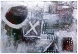 移転記念ギャラリーコレクション展 高木敏行 「月の光の中で」 mixedmedia 56x81cm