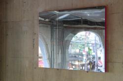 Mirror Site(14497) 2012 ステンレススティール、パネル 133×109×7.5cm photo : 草木貴照