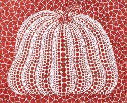 草間彌生 「かぼちゃP」 1999年 シルクスクリーン・ラメ ED. 60