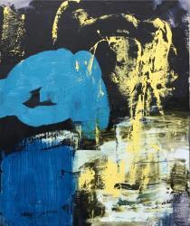 「daydream-宵の気配」53×45.5cm 2019年 キャンバスに油彩