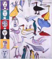 猪熊弦一郎《飛ぶ日のよろこび》1993 年 Ⓒ公益財団法人ミモカ美術振興財団