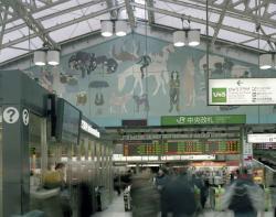猪熊弦一郎 JR 東日本上野駅壁画《自由》1951 年 ⓒホンマタカシ