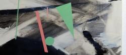 予感(部分) 2018キャンバスに油彩38.5 x 41cm