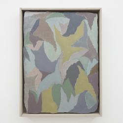 """松﨑 友哉 """"Untitled"""" 2019 Oil on Plaster Slab in Custom Frame 47.0 x 35.5 x 4.5 cm"""