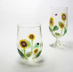 ひまわり畑  グラス ビアグラス