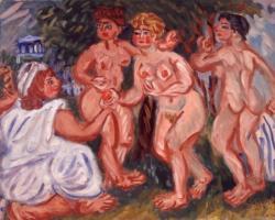 梅原龍三郎 《パリスの審判》1978年 油彩/カンヴァス84.0×105.5cm 個人蔵
