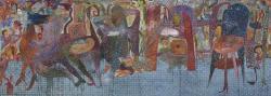 Rajah 2014 Oil, Acrylic on Canvas 145x400 cm