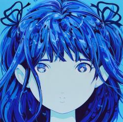 彼女の顔が思い出せない−!− 2020 キャンバスにアクリル 145.5 × 145.5 × 6.3 cm ©KATO Ai (AI☆MADONNA) Courtesy Mizuma Art Gallery