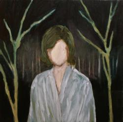 """Distortion"" 2012 Oil on canvas 53.0 x 53.0cm (C)Koutaro Inoue"