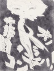 中矢 篤志 菲才の闇からコンニチハ! 2014 鉛筆、紙 21.0 x 14.8cm ©Atsushi Nakaya