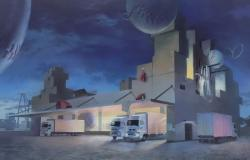 """平俊介 """"迷夢浮流センター """" 2021 アクリルガッシュ、キャンバス 89.4 x 145.5cm ©Shunsuke Taira"""