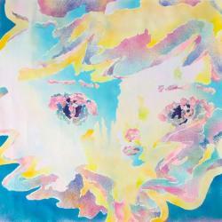 "中矢篤志| Atsushi Nakaya ""Rainbow Mist"" 2019 Acrylic on canvas 130.3 x 130.3cm ©Atsushi Nakaya"
