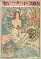 アルフォンス・ミュシャ 《モナコ・モンテカルロ》 1897年 カラーリトグラフ ミュシャ財団蔵 ©Mucha Trust 2020