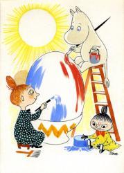トーベ・ヤンソン ≪イースターカード 原画≫ 1950年代 グワッシュ、インク・紙 ムーミンキャラクターズ社 ©Moomin Characters ™
