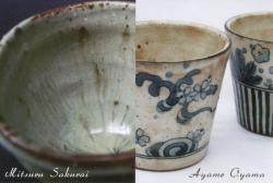 灰釉と染付 櫻井満・大山文女展