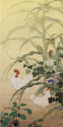 《初夏双鶏之図》大村市蔵