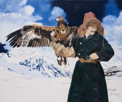 雪原の鷹匠