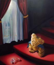 「小さな恋の物語」 2015, 72.7 x 60.6cm, 木製パネル, 白亜地, 油彩