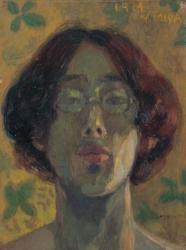 宮芳平《自画像》 大正3(1914)年 油彩・板 30.5×23.1cm 安曇野市豊科近代美術館蔵