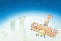 《『飛行士と星の王子さま : サン テグジュペリの生涯』 原画》 2014年 ©Peter Sis, 2014