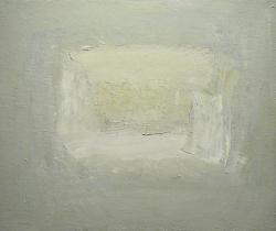 案内状作品 「私の消える場所」 F8