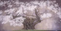 中島千波「樹霊淡墨桜」 1993年 おぶせミュージアム・中島千波館蔵