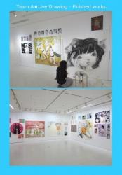 Team A★Live Drawing in ROPPONGI HILLS A/D GALLERY