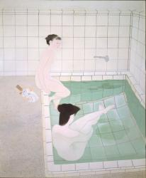小倉遊亀《浴女 その一》1938 年  210.0×176.0cm 東京国立近代美術館蔵