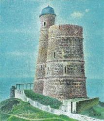 岡 鹿之助 「塔」 1975年