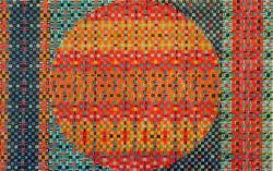 オノサトトシノブ 「円61A 」1961年 シルクスクリーン   31×49