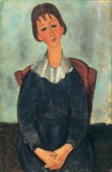 アメデオ・モディリアーニ 《少女の肖像》 1918年 アサヒビール大山崎山荘美術館蔵