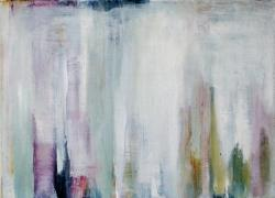 神川 智子 「 passage blanche neige 」 2014年 335 × 240 mm 油彩 ¥40,000 -