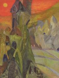 續橋仁子 《トルコの旅からNo.2》 2014年  キャンバスに油彩 145.5×112.0cm