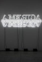 Glenn Ligon Double America (2012) neon and paint 91.4x304.8cm (36x120in.) © Glenn Ligon Courtesy of the artist