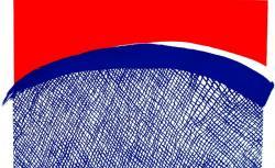 「まるい洗濯ネット」 素材:リトグラフ、木版 制作年:2020年 サイズ:600mm×900mm