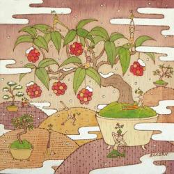 盆栽ヨガ-初雪-