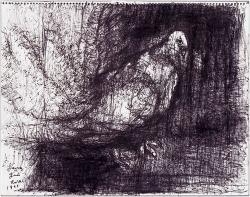 柳原義達《道標・鳩》1991年、碧南市藤井達吉現代美術館蔵