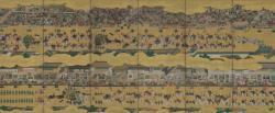 《二条城行幸図屏風》右隻 江戸時代・17世紀 泉屋博古館蔵