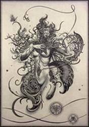 「Papillon」 2021 銅版画