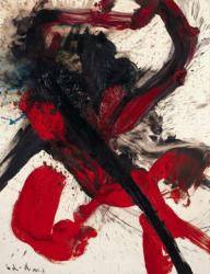 《地暴星喪門神》油彩、キャンバス、1961、 兵庫県立美術館蔵(山村コレクション)